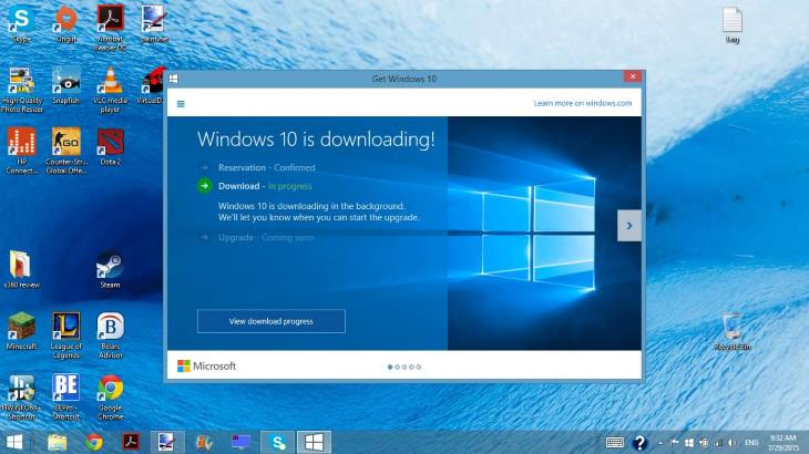 Windows 8.1升级到Windows 10